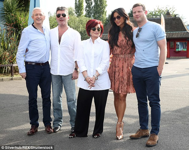 Simon Cowell and the X Factor judges at Thorpe Park