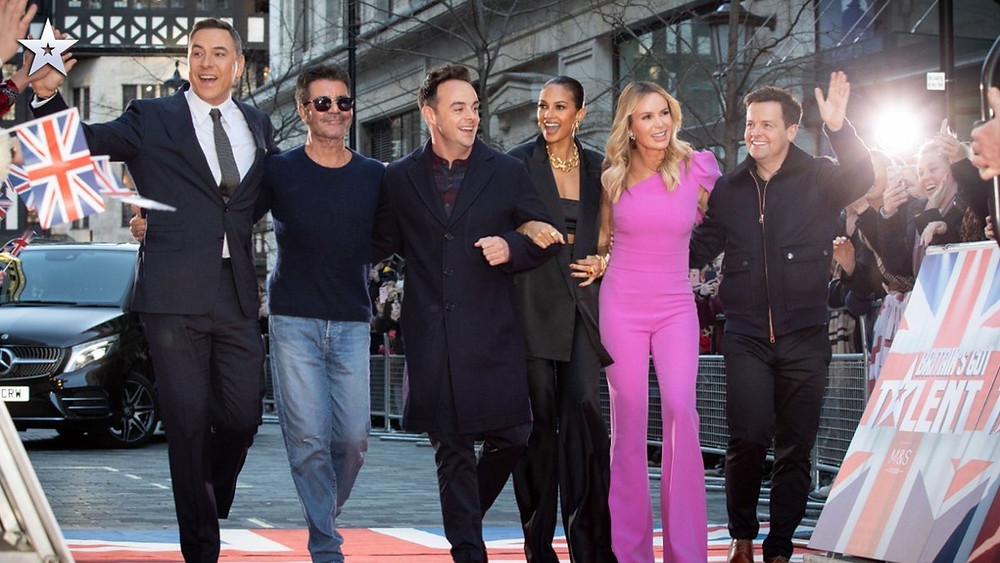 The Britain's Got Talent judges arrive on the red carpet