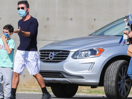 Simon Cowell takes Eric skateboarding in Malibu