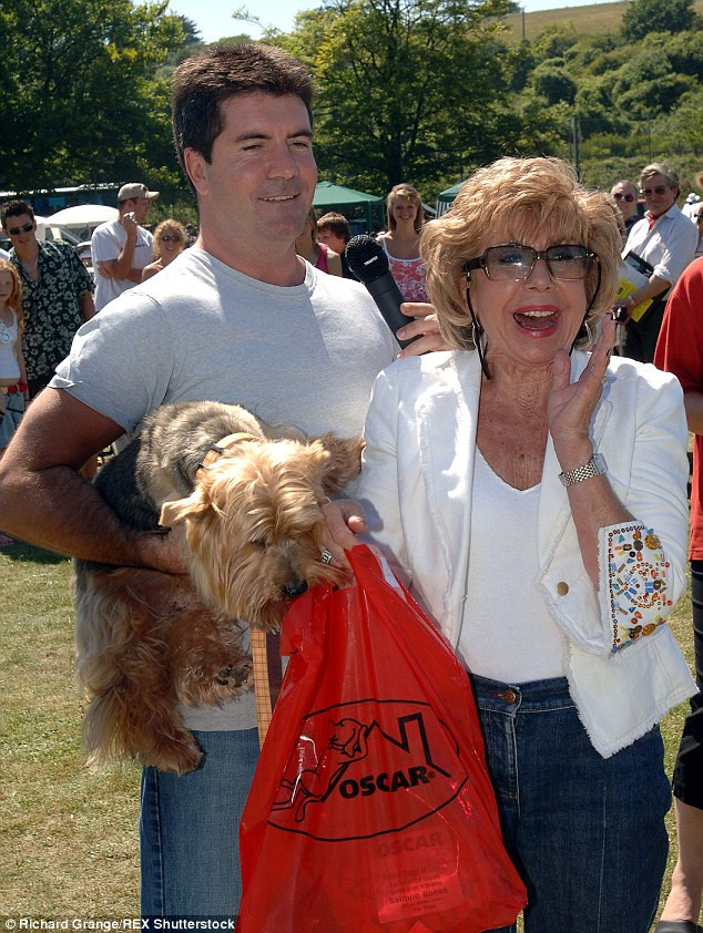 Simon Cowell with his mum Julie