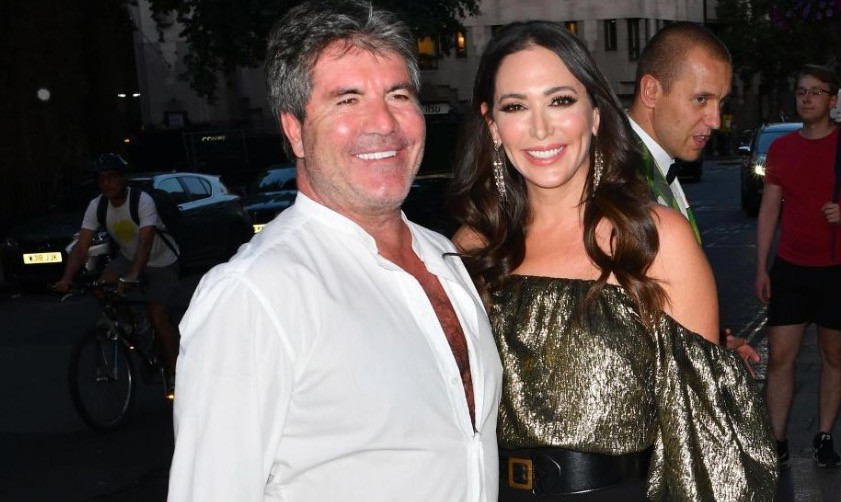 Simon Cowell and Lauren Silverman arrive at Annabels's in Mayfair