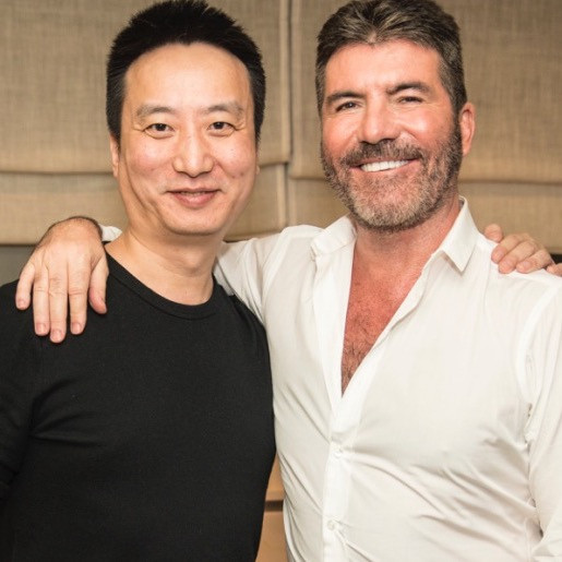 Simon Cowell and Jin Lei ofCanxing Production-Star China