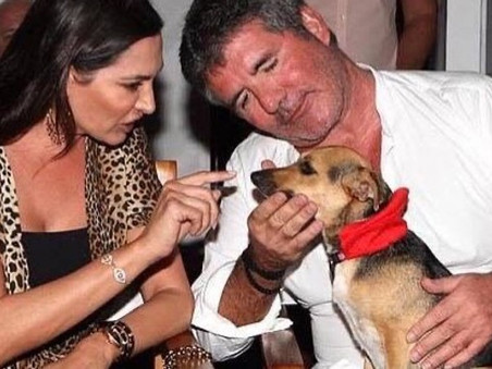 Simon Cowell and Lauren gift a large donation to K9 Friends dog charity