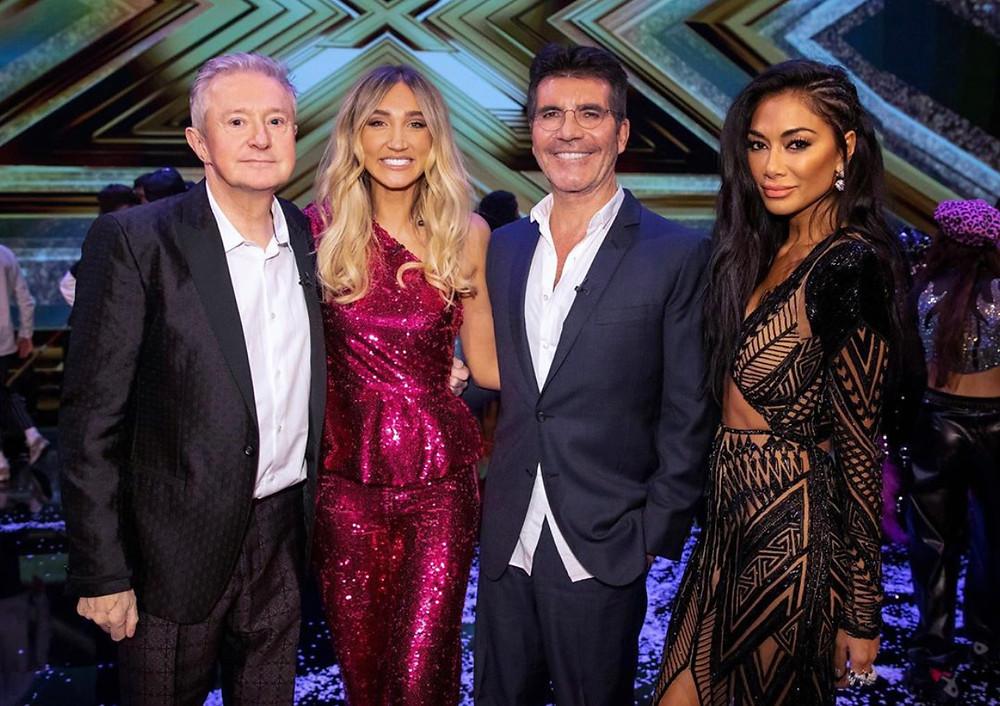 Megan McKenna with Simon Cowell, Nicole and Louis