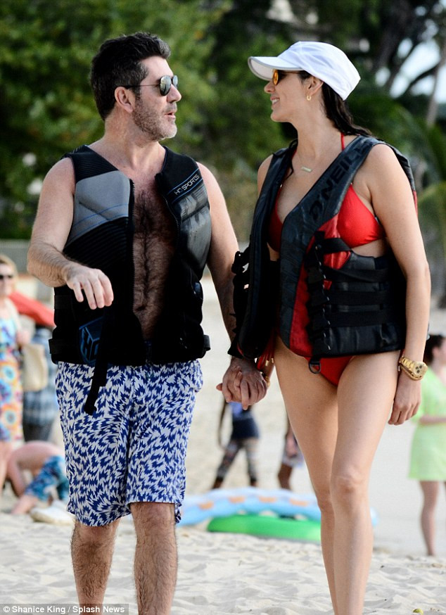 Simon Cowell and Lauren Silverman on holiday in Barbados
