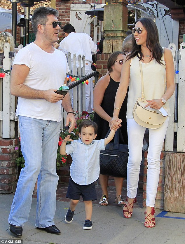 Simon Cowell, Lauren Silverman with son Eric