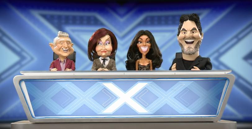 Simon Cowell, Louis Walsh, Sharon Osbourne and Nicole Scherzinger on Newzoid