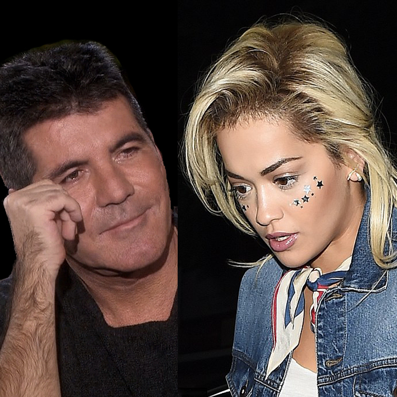 Simon Cowell and Rita Ora