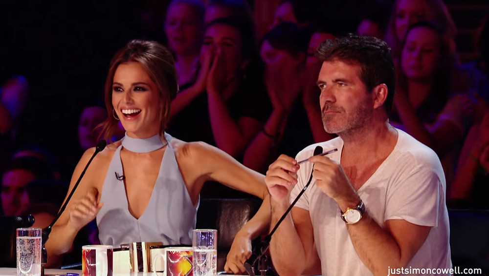 Simon Cowell with Cheryl on the X Factor