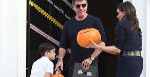 Simon Cowell, Lauren and Eric get ready for Halloween