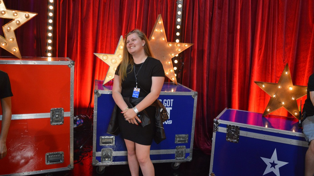 Katie Titus from Supajam Education backstage at Britain's Got Talent: The Champions