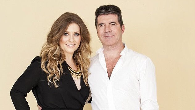 Simon Cowell with Ella Henderson