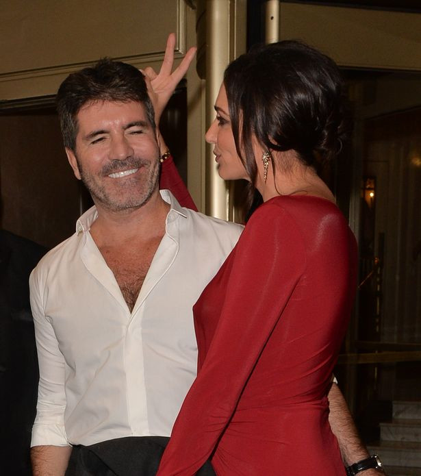 Simon Cowell and Lauren Silverman at the Shooting Star Chase Ball