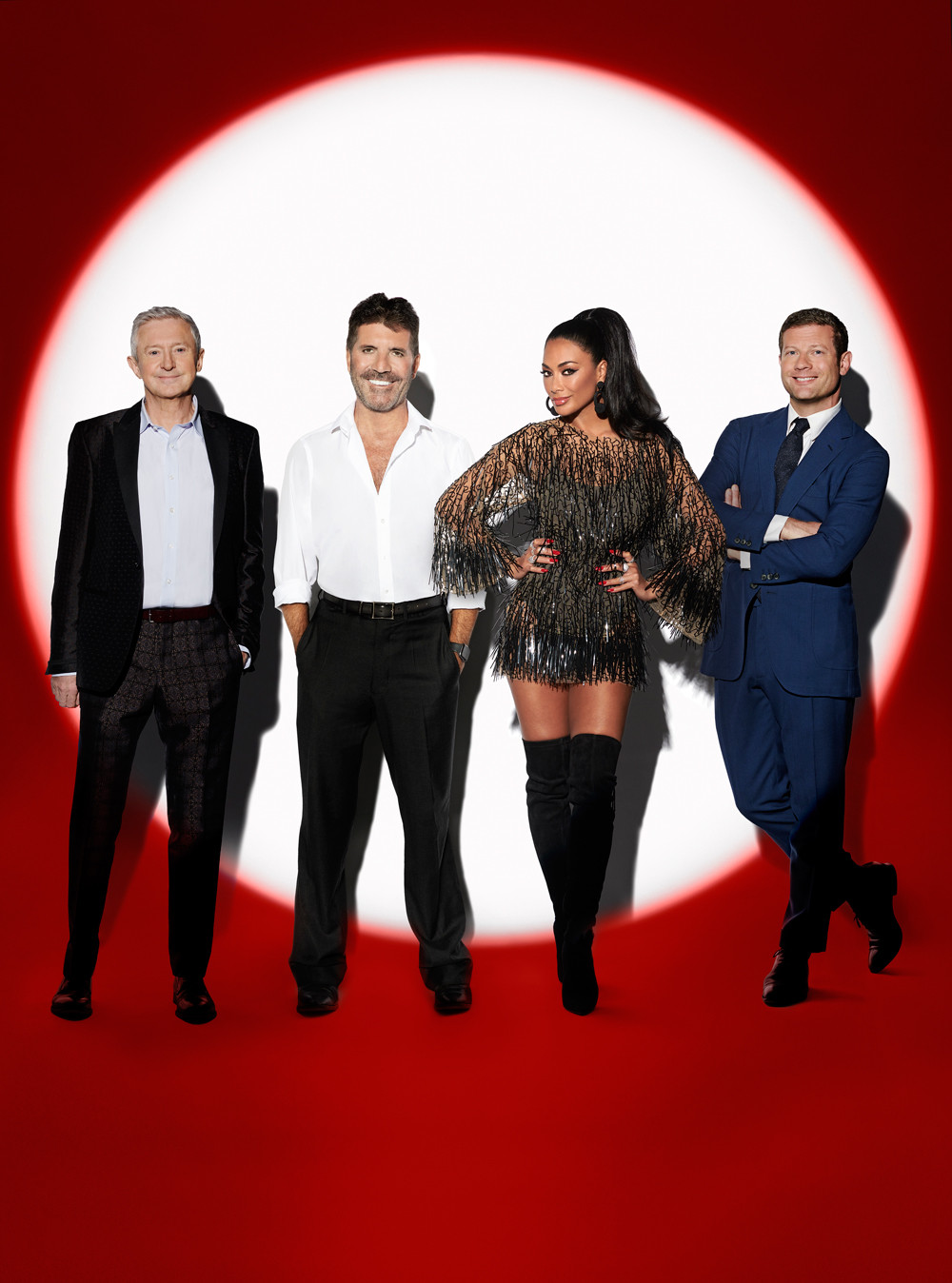 X Factor: Celebrity - The Judges, Simon Cowell, Nicole Scherzinger. Louis Walsh and Dermot O'Leary
