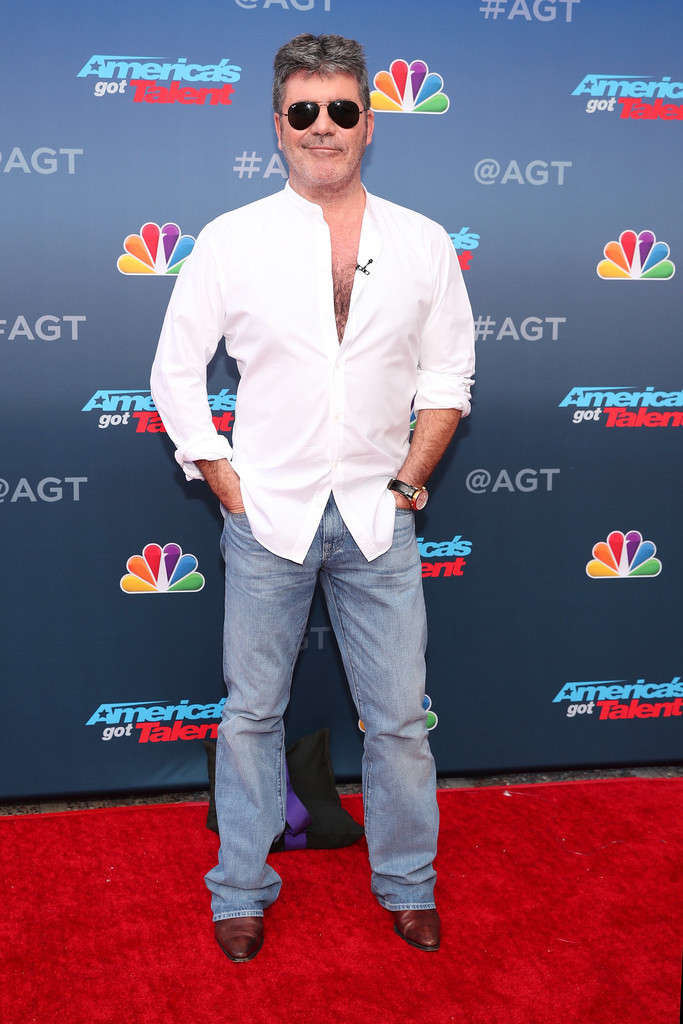 Simon Cowell on the America's Got Talent photo shoot