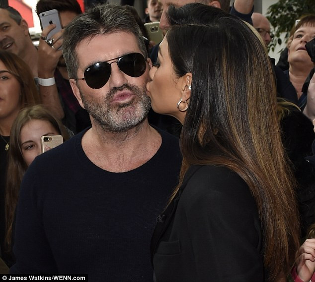 Simon Cowell and Nicole Scherzinger at Manchester X Factor auditions