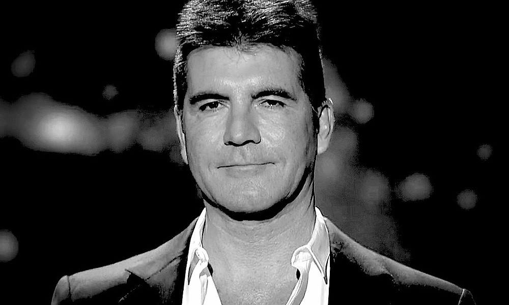 Simon Cowell black and white photo