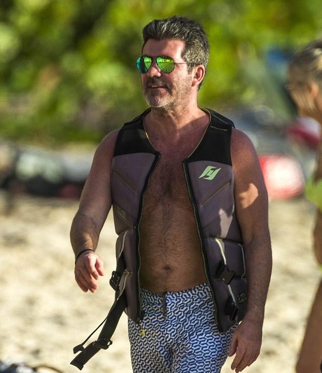 Simon Cowell in Barbados Christmas Day