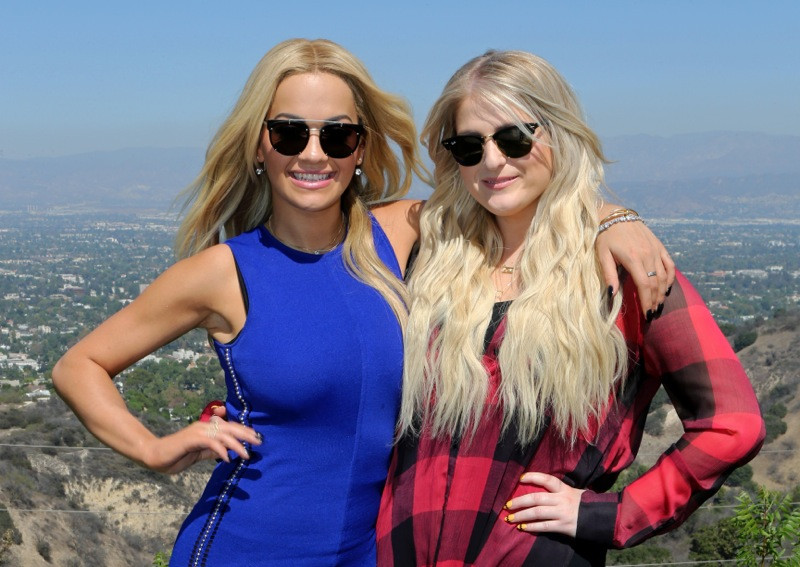 Rita Ora and Meghan Trainor in Lost Angeles for X Factor Judges Houses