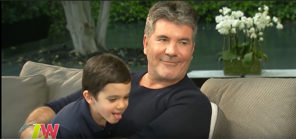 Simon Cowell with his son Eric on Loose Women