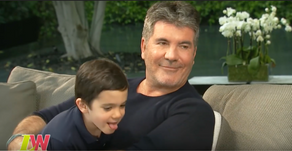 Simon Cowell gatecrashed by his son Eric during an interview