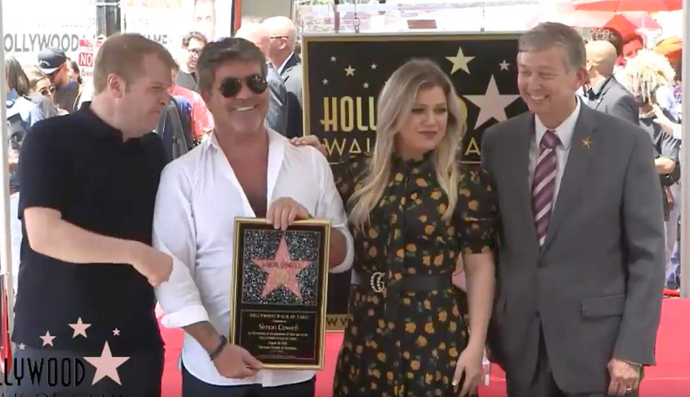 Simon Cowell receives his star on the Hollywood Walk of Fame