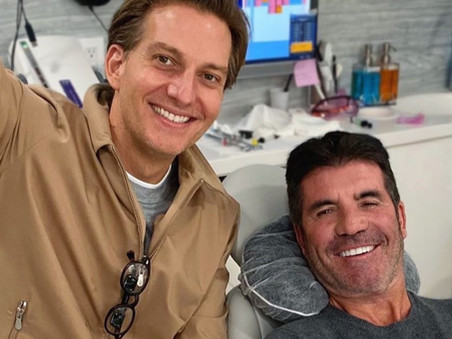Simon Cowell has something to smile about during his recovery