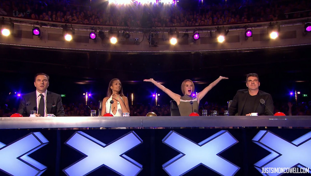 Simon Cowell, Amanda Holden, David Walliams, Alesha Dixon