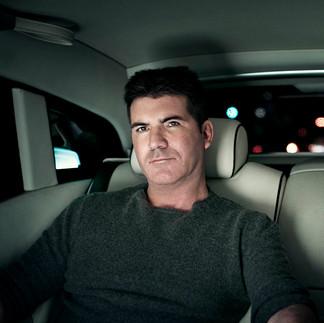 Simon Cowell in his Rolls Royce