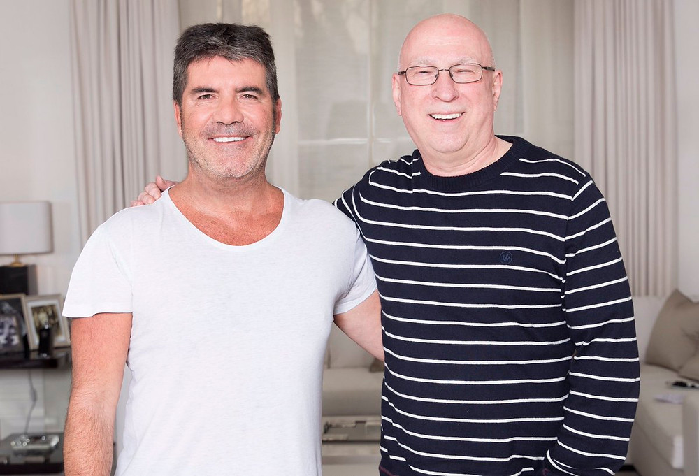 Simon Cowell with Ken Bruce from BBC Radio 2