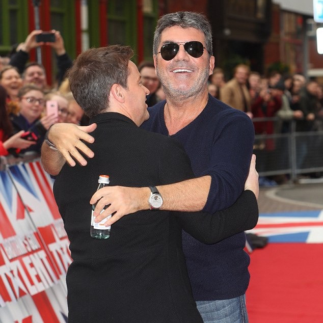 Simon Cowell and Dec on the red carpet at Britain's Got Talent in Birmingham