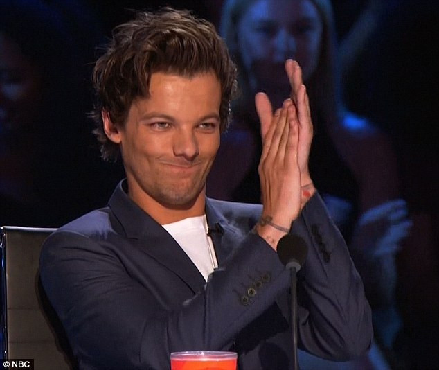 Louis Tomlinson at X Factor rehearsals