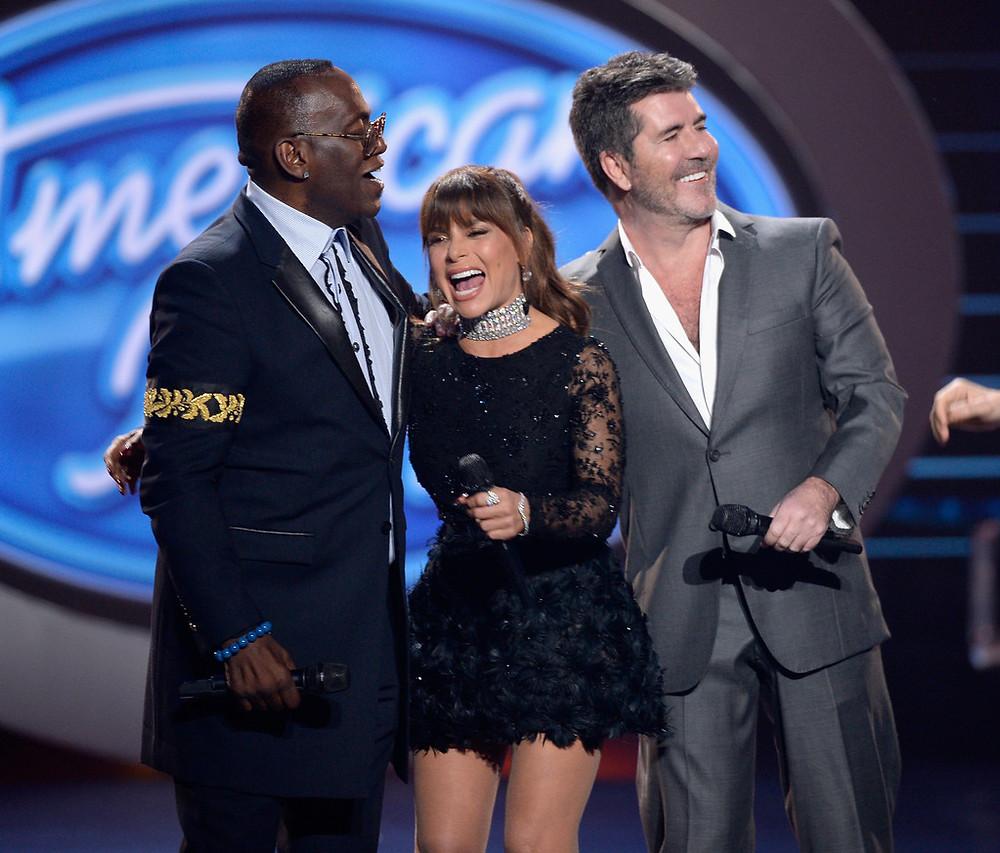 Simon Cowell, Paula Abdul and Randy Jackson - American Idol Finale