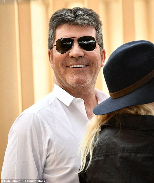 Simon Cowell at the Hollywood Walk of Fame