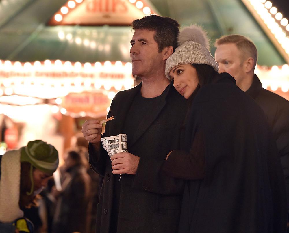 Simon Cowell and girlfriend Lauren Silverman at Winter Wonderland