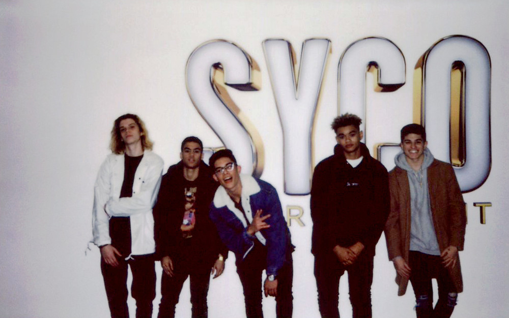Boyband Pretty Much at Syco Headquarters in Los Angeles