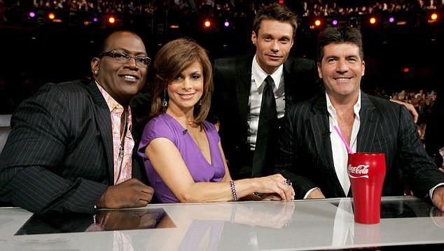 Simon Cowell, Paula Abdul, Randy Jackson, Ryan Seacrest on Idol