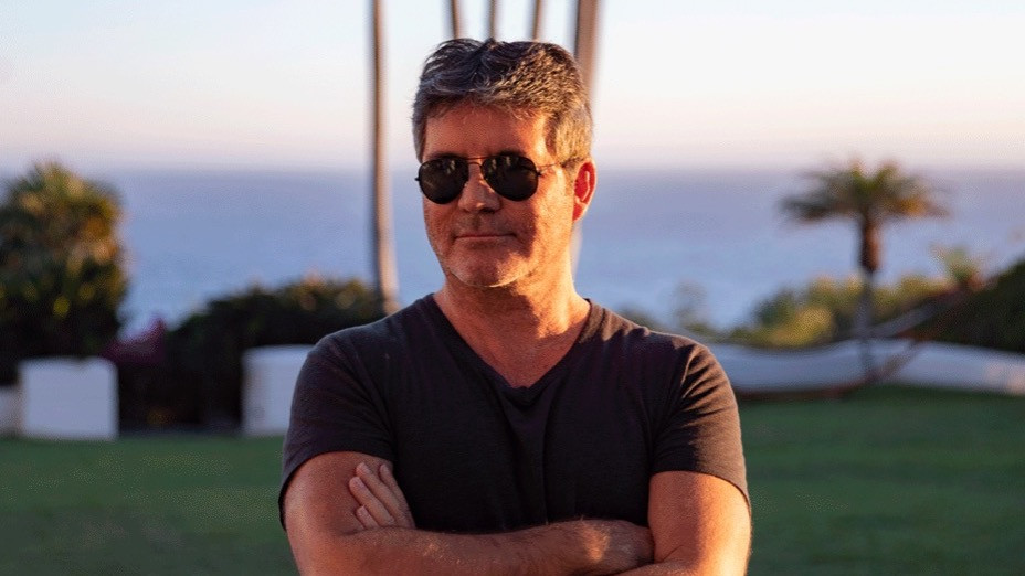 Simon Cowell at his Malibu mansion