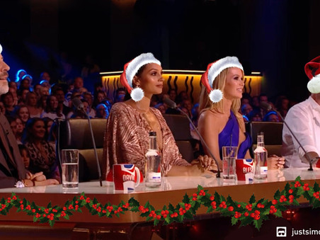 Simon Cowell brings Christmas cheer to Britain's Got Talent