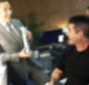 simon cowell with David Walliams behind the scenes at BGT