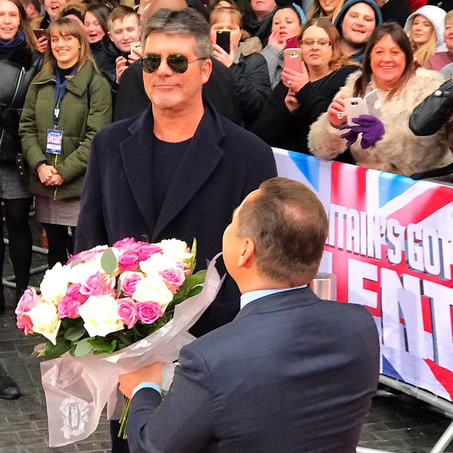 simon cowell and david walliams at Britain's Got Talent manchester