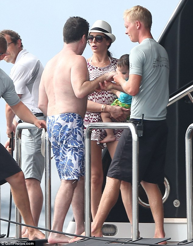 Simon Cowell, Lauren Silverman on holiday with Eric.
