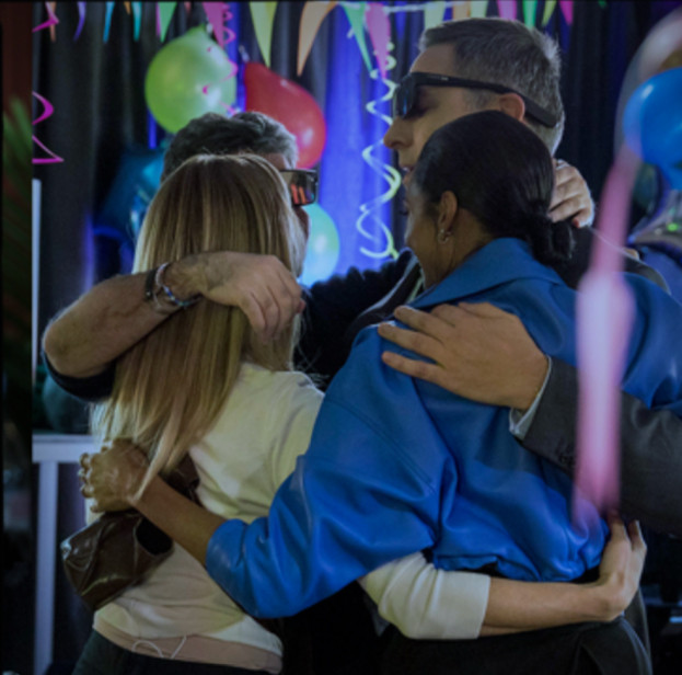 Group hug with the Britain's Got Talent judges