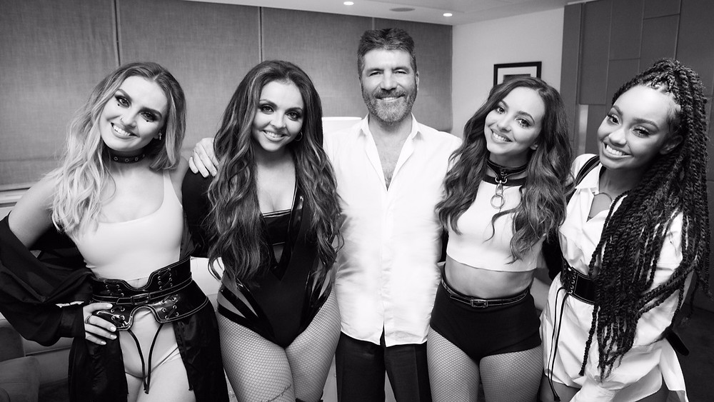 Simon Cowell with Syco artists Little Mix