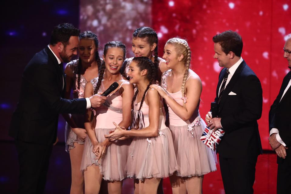Julia Carlile and the Mersey Girls in 2017 on BGT
