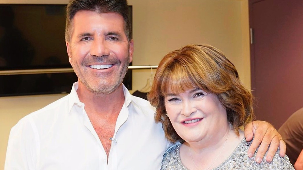 Simon Cowell with Susan Boyle on AGT
