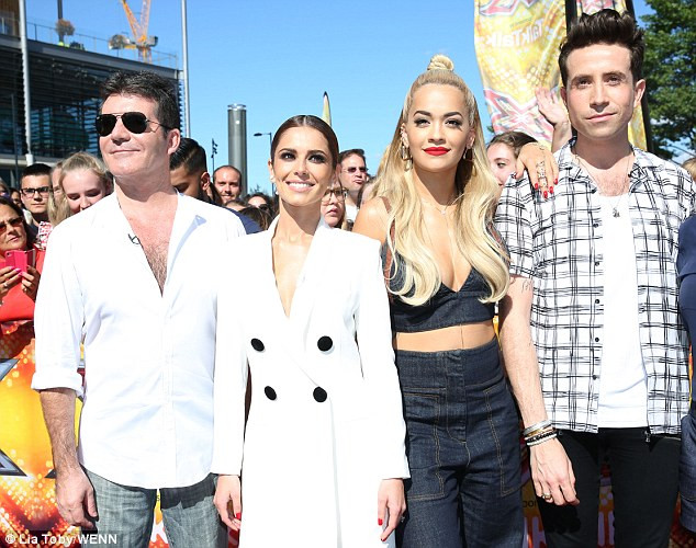 Simon Cowell, Cheryl Fernandez-Versini, Rita Ora, Nick Grimshaw