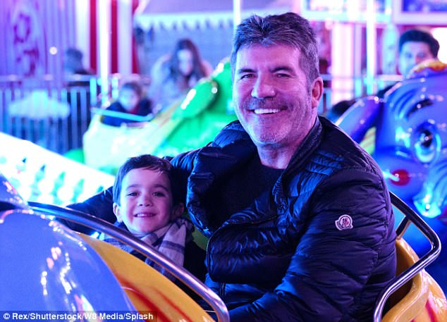 Simon Cowell at Winter Wonderland with his son Eric