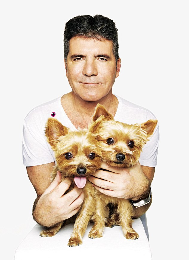Simon Cowell with his dogs Squddly & Diddly