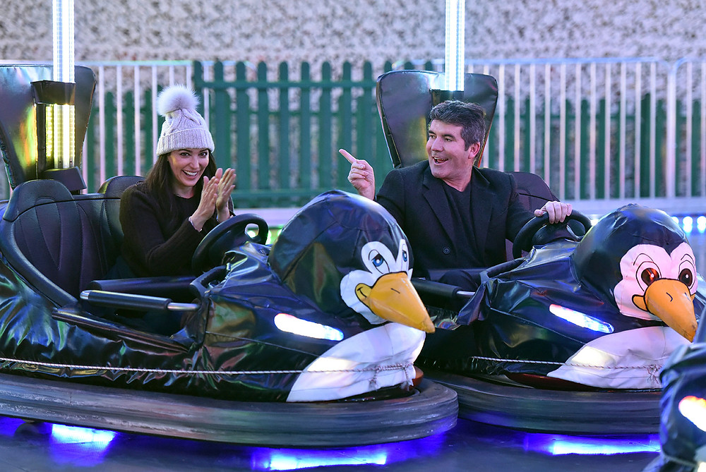 Simon Cowell and Lauren Silverman at Winter Wonderland